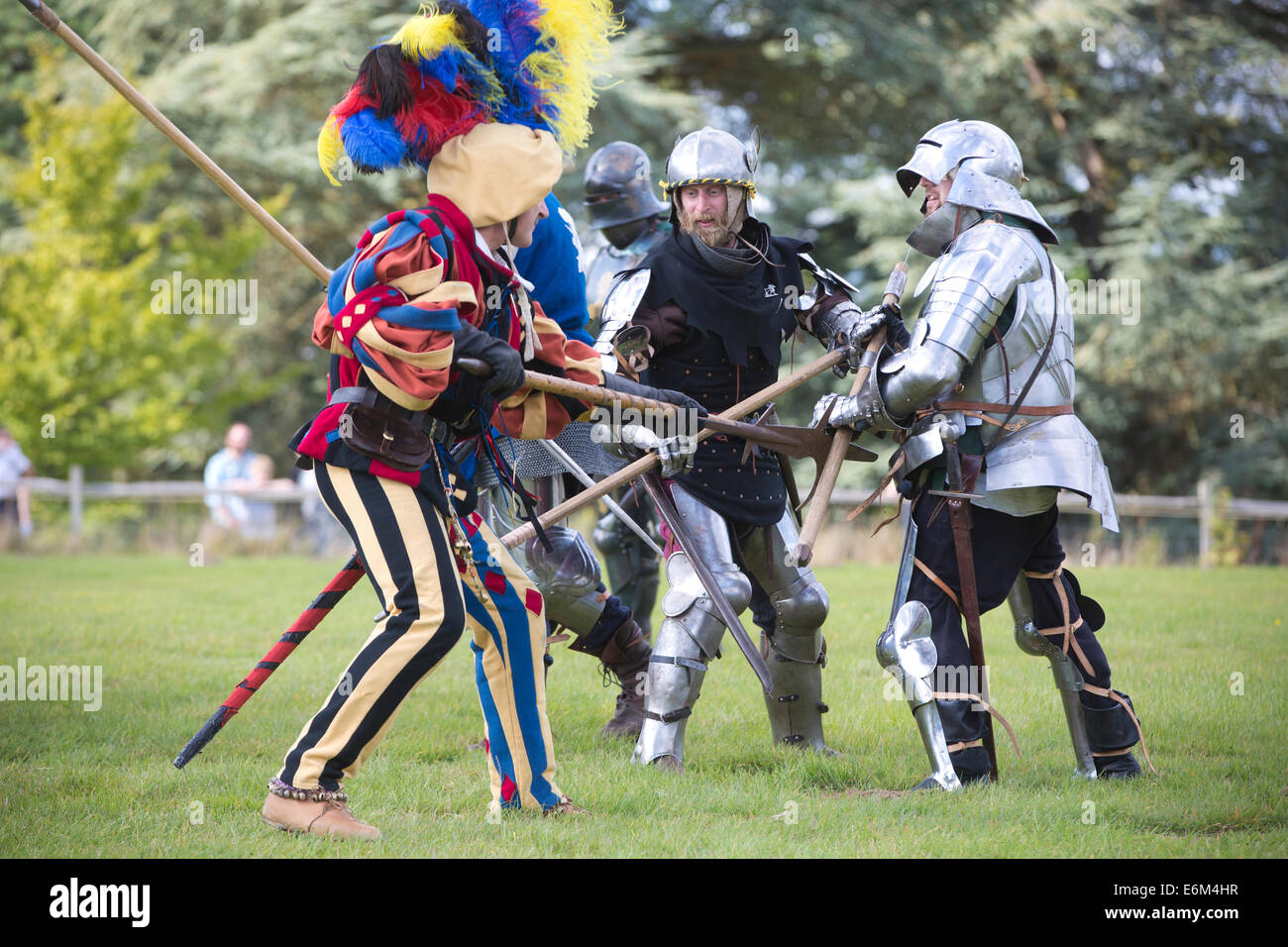 Tudor Knights reenact battle in the grounds of Hever Castle