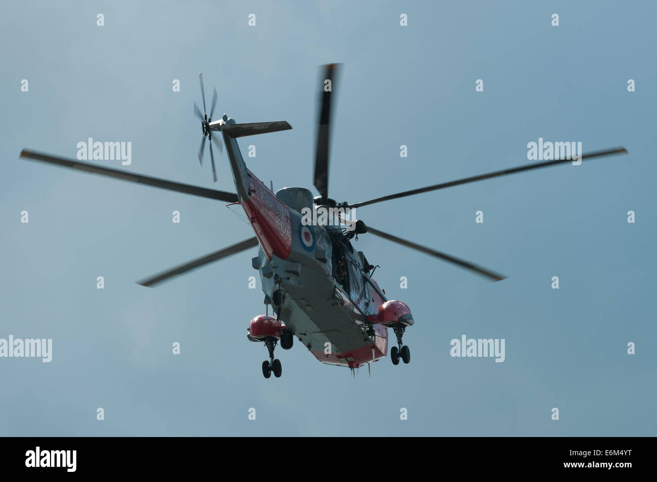 Royal Navy Rescue Westland Sea King helicopter, Dawlish Air Show Aug 23, 2014. - Stock Image
