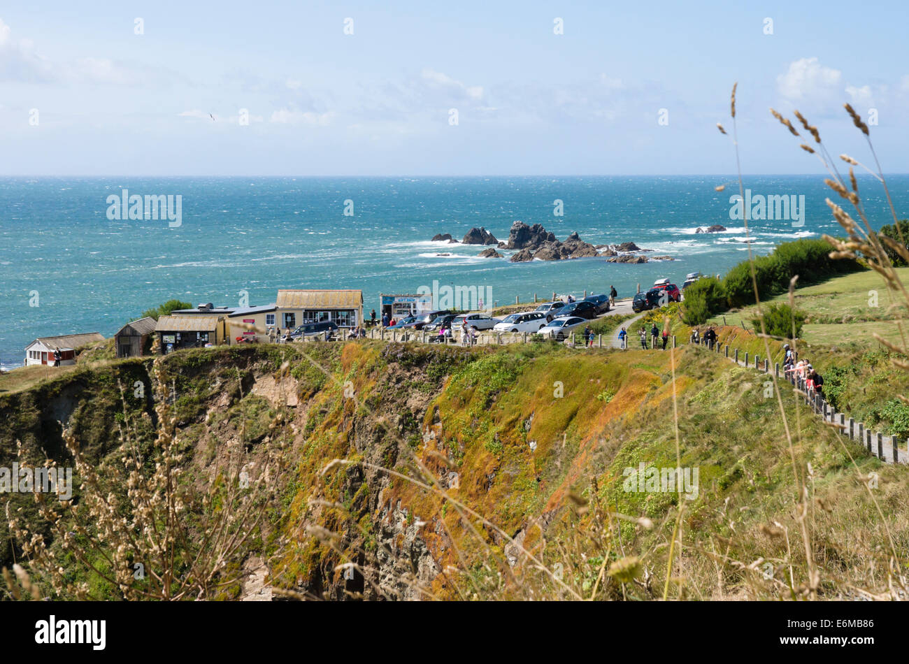 The Lizard Peninsula Cornwall england UK  Polpeor Cafe on the most southerly point. - Stock Image