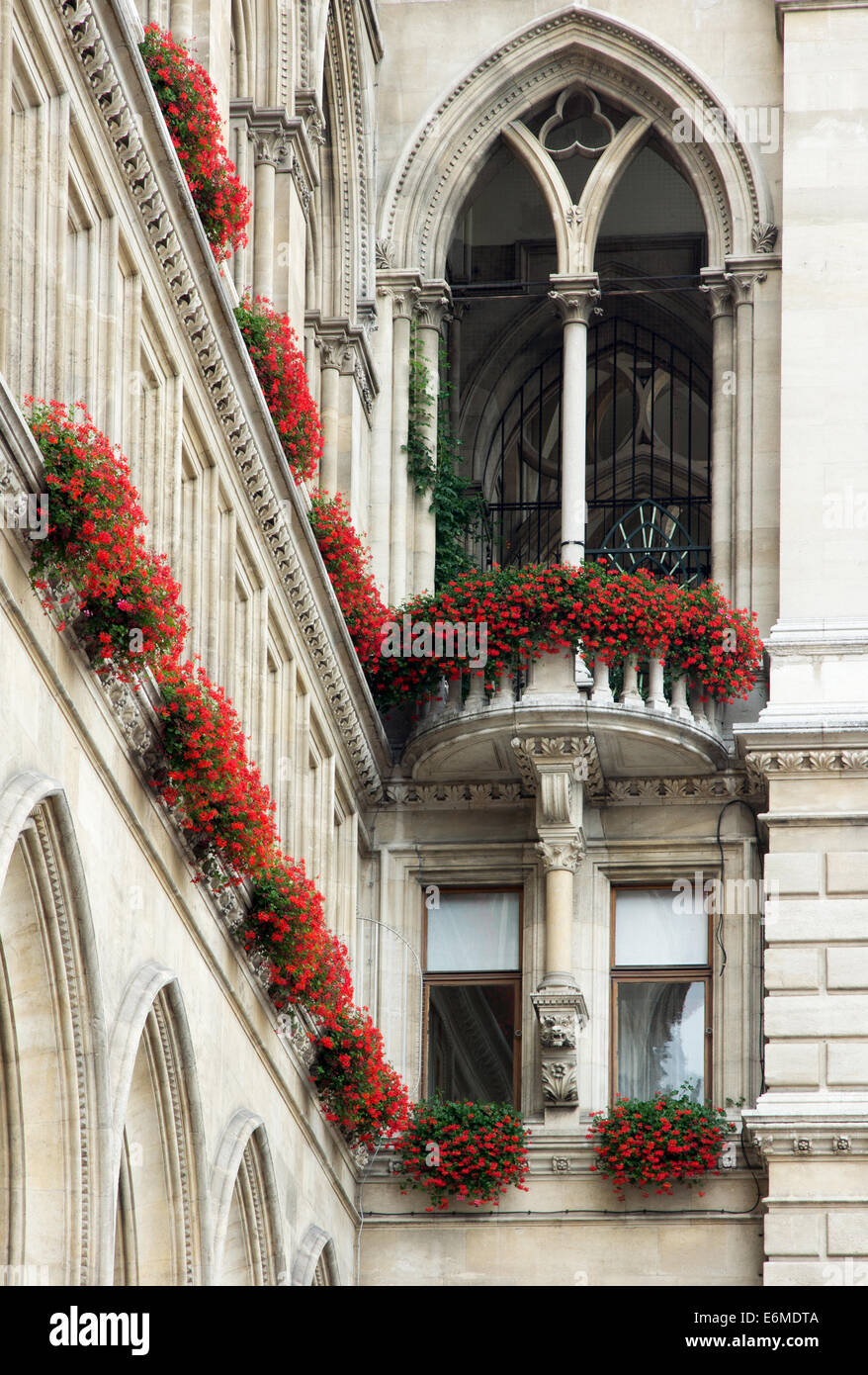 Detail from city hall of Vienna - Stock Image