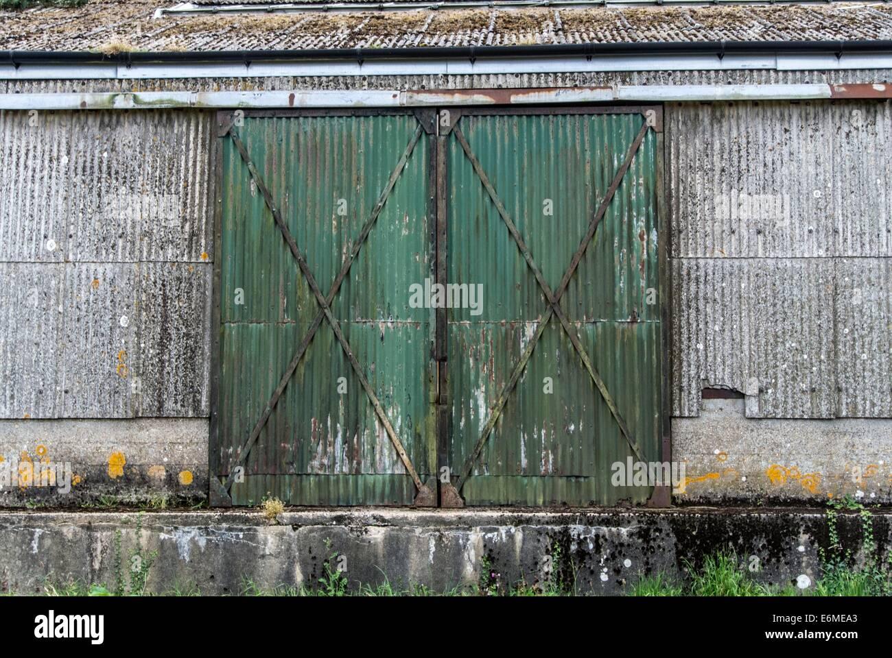 Steel doors - Stock Image
