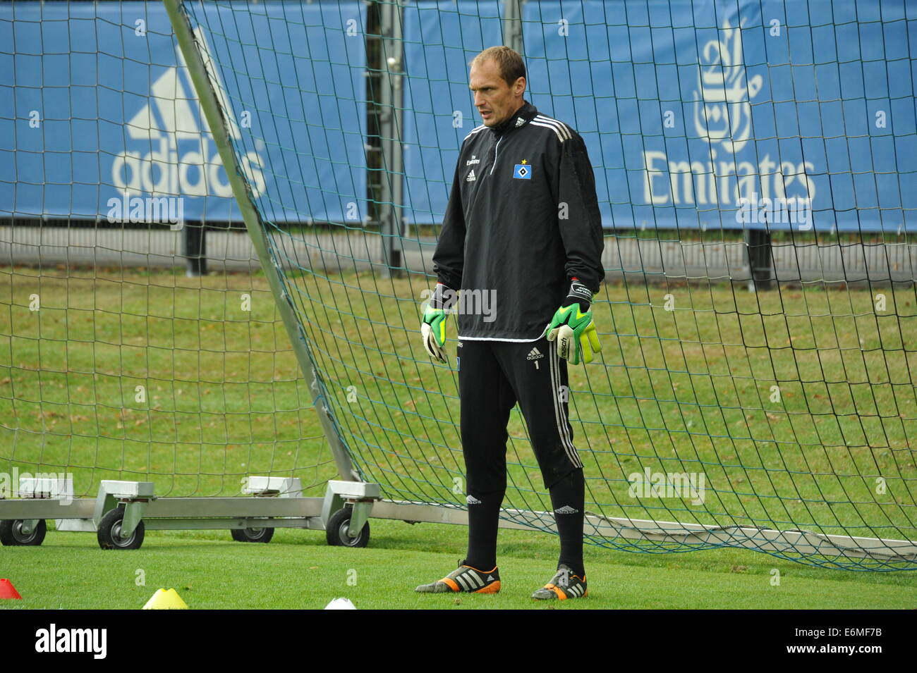 HSV-Training, Drobny im Tor, Hamburg, Deutschland, Editorial use only. - Stock Image