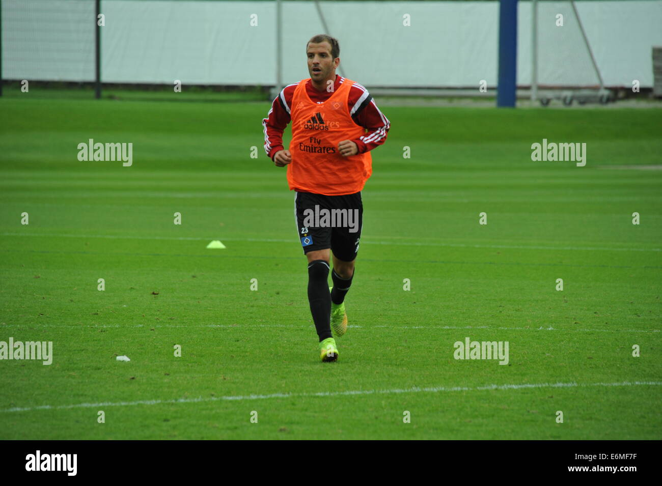 Rafael van der Vaart im HSV-Training, Hamburg, Deutschland. Editorial use only. Stock Photo