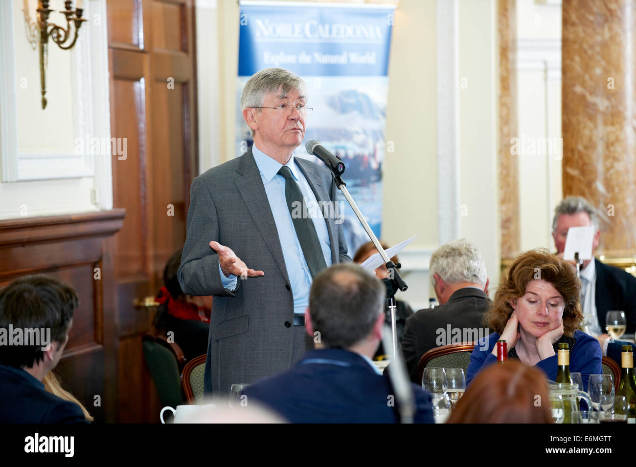 Piers Paul Read at the Oldie Literary Lunch  18/09/12 - Stock Image