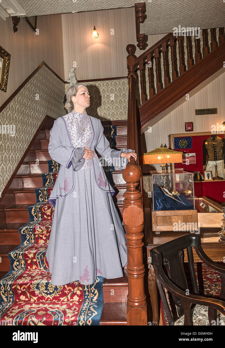 Actress plays the part of Henriette Forget, wife of Lieutenant Governor Amedee Forget in historical vignettes, Government - Stock Image