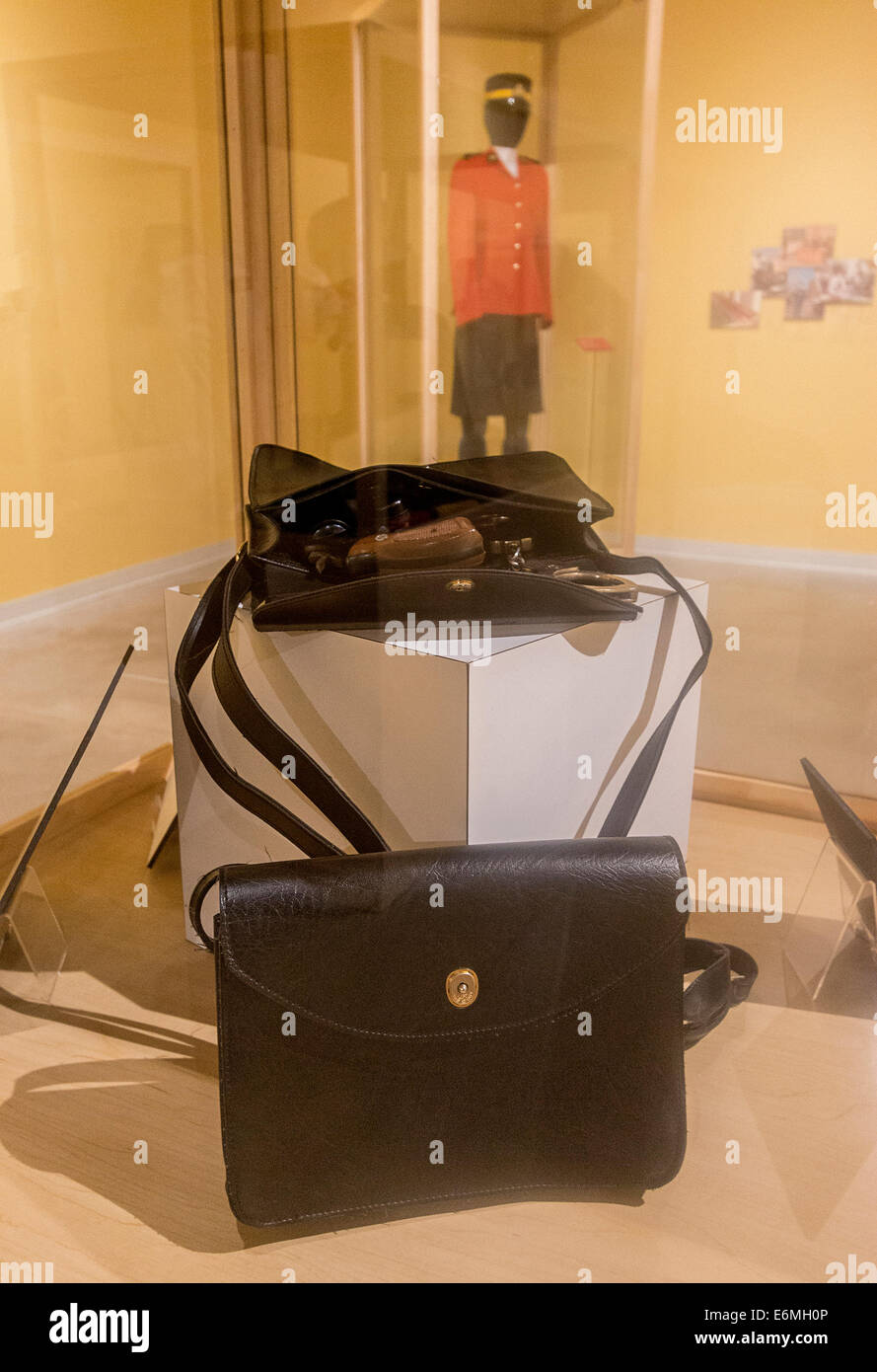 Official purse issued to women Mounties after they were initially allowed to become RCMP officers in 1974. - Stock Image