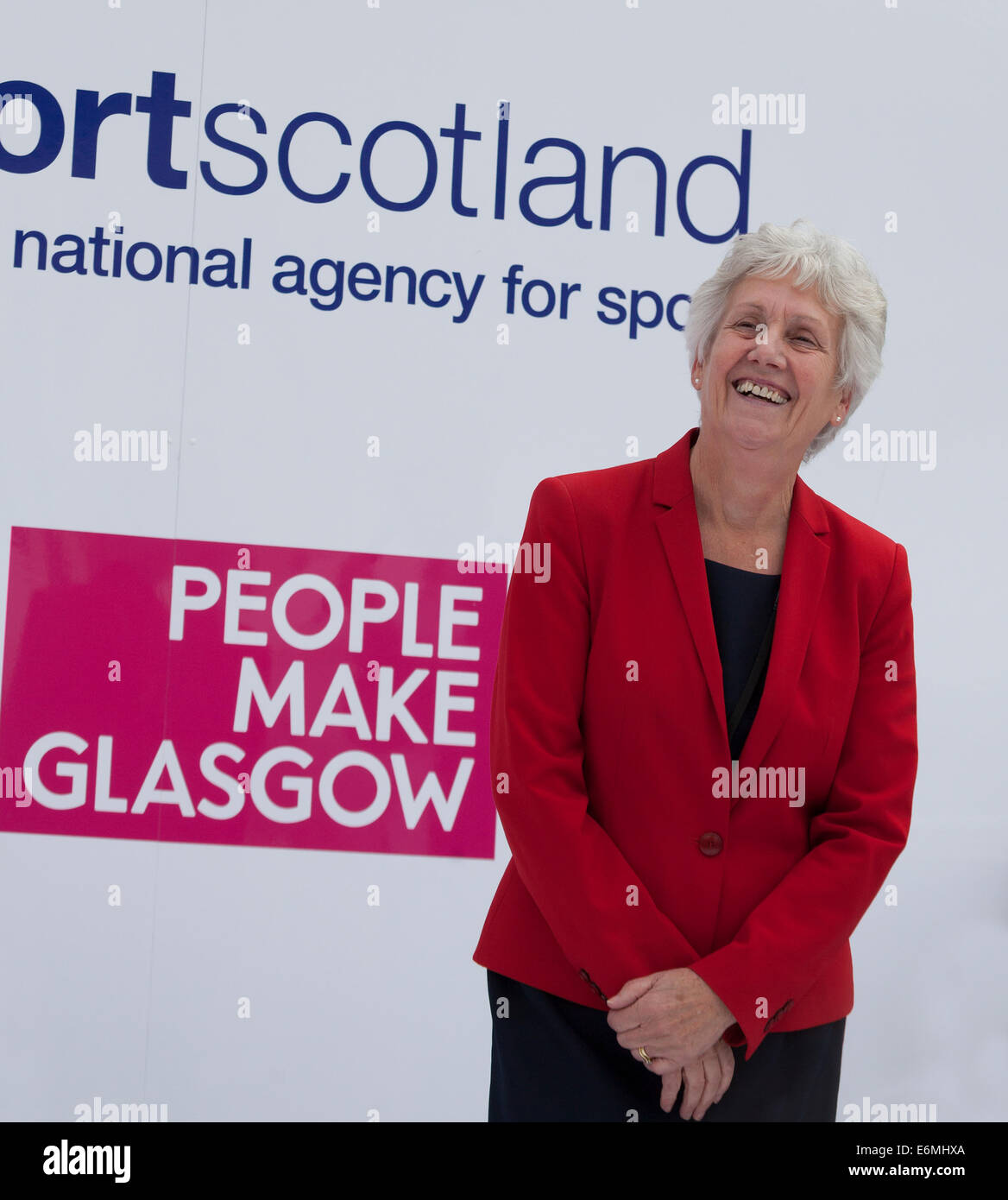 Louise Martin CBE, Chair of Sport Scotland and Vice Chair of the Commonwealth Games Glasgow 2014 Organising Committee. - Stock Image