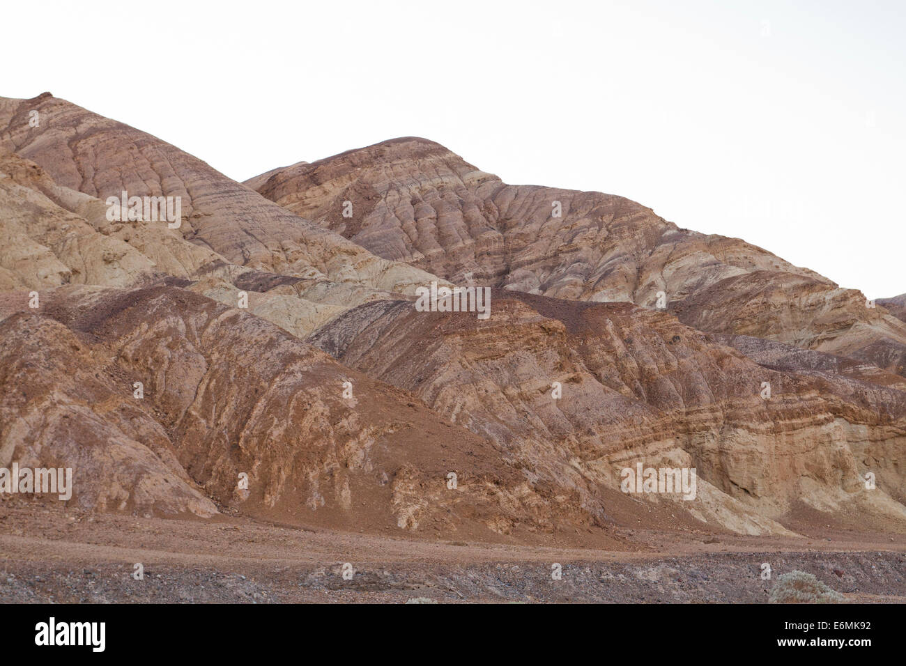 Mineral rich desert mountainside - Death Valley, California USA - Stock Image
