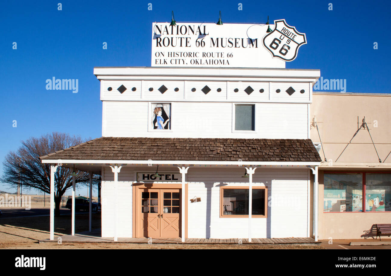 National Route 66 Museum in Elk City Oklahoma - Stock Image
