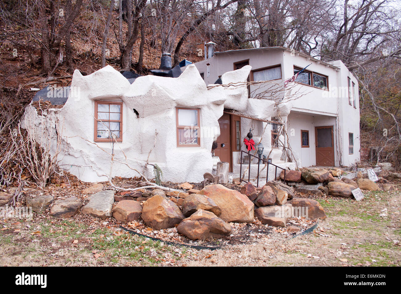 The Cave House in Tulsa Oklahoma - Stock Image