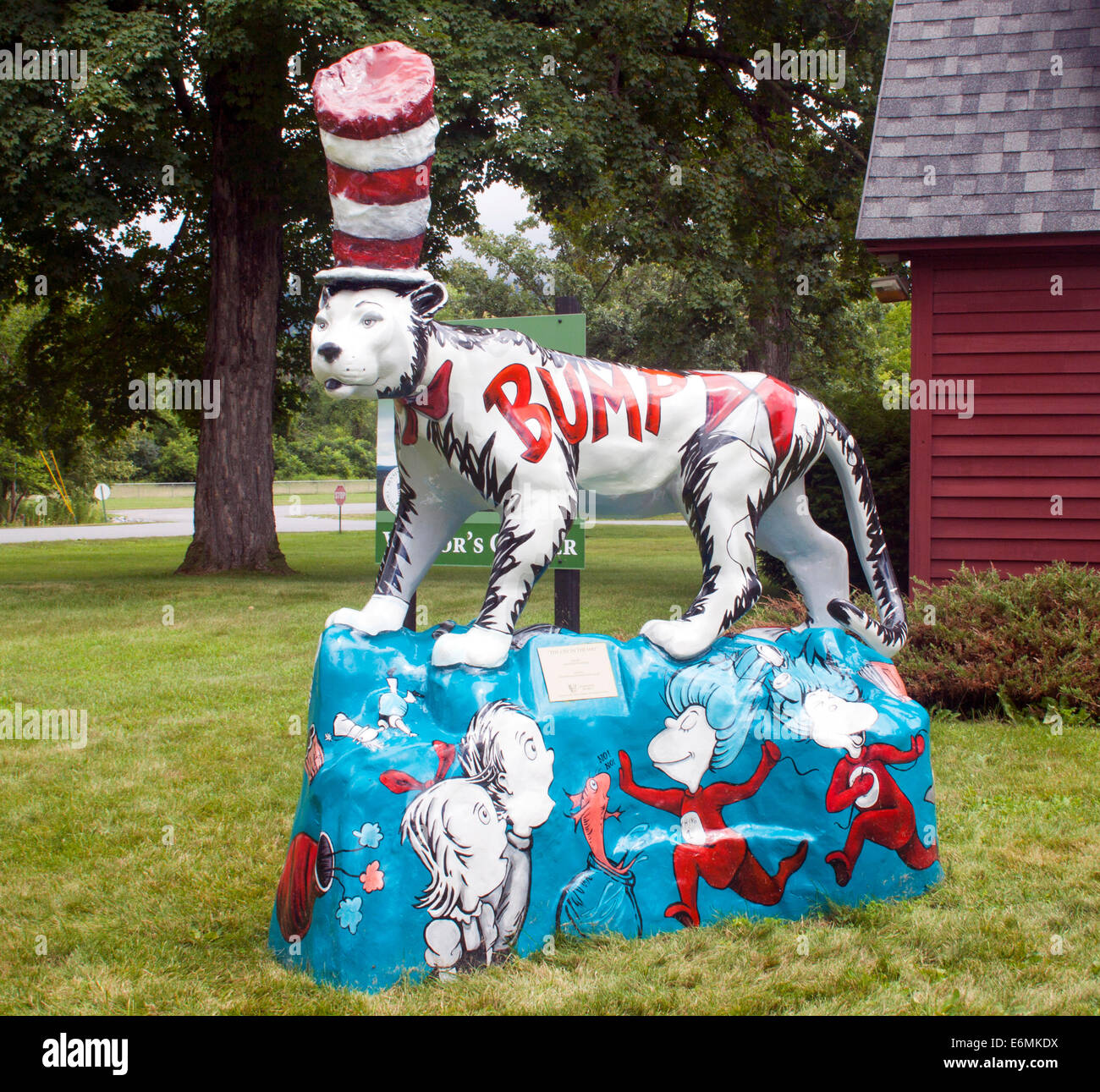 Dr. Seuss street art in Bennington Vermont - Stock Image