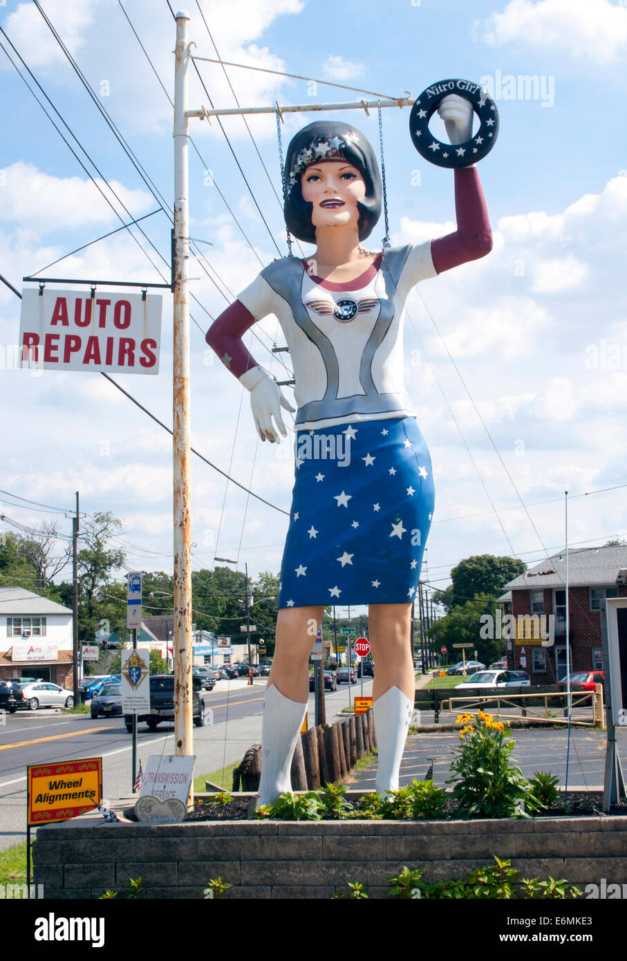 Nitro the Uni Royal Gal at a garage in Blackwood New Jersey - Stock Image