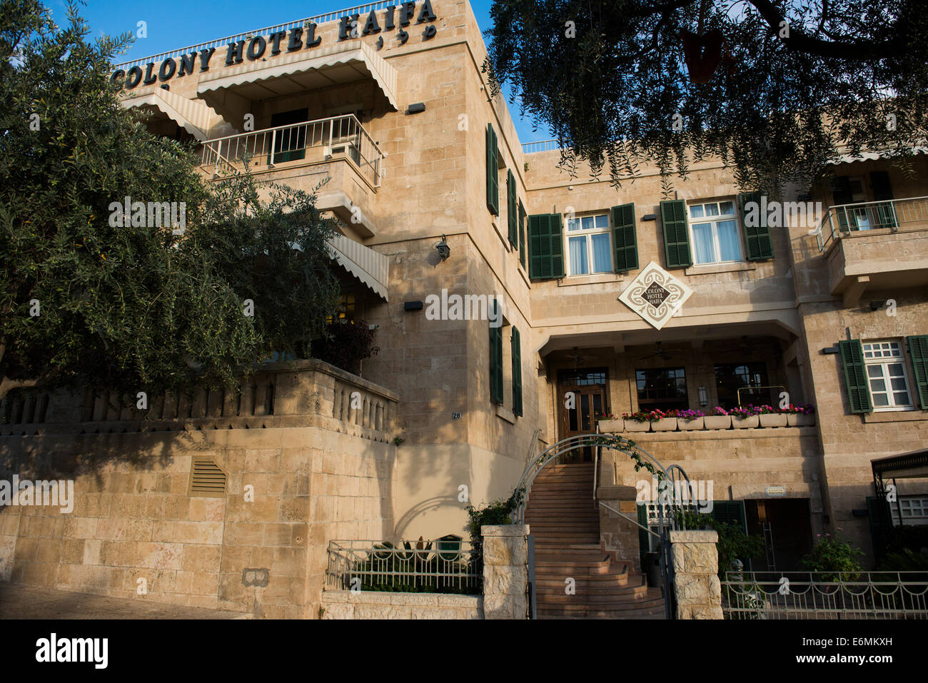 The colony hotel in Haifa is one of the finest boutique hotels in the city. - Stock Image