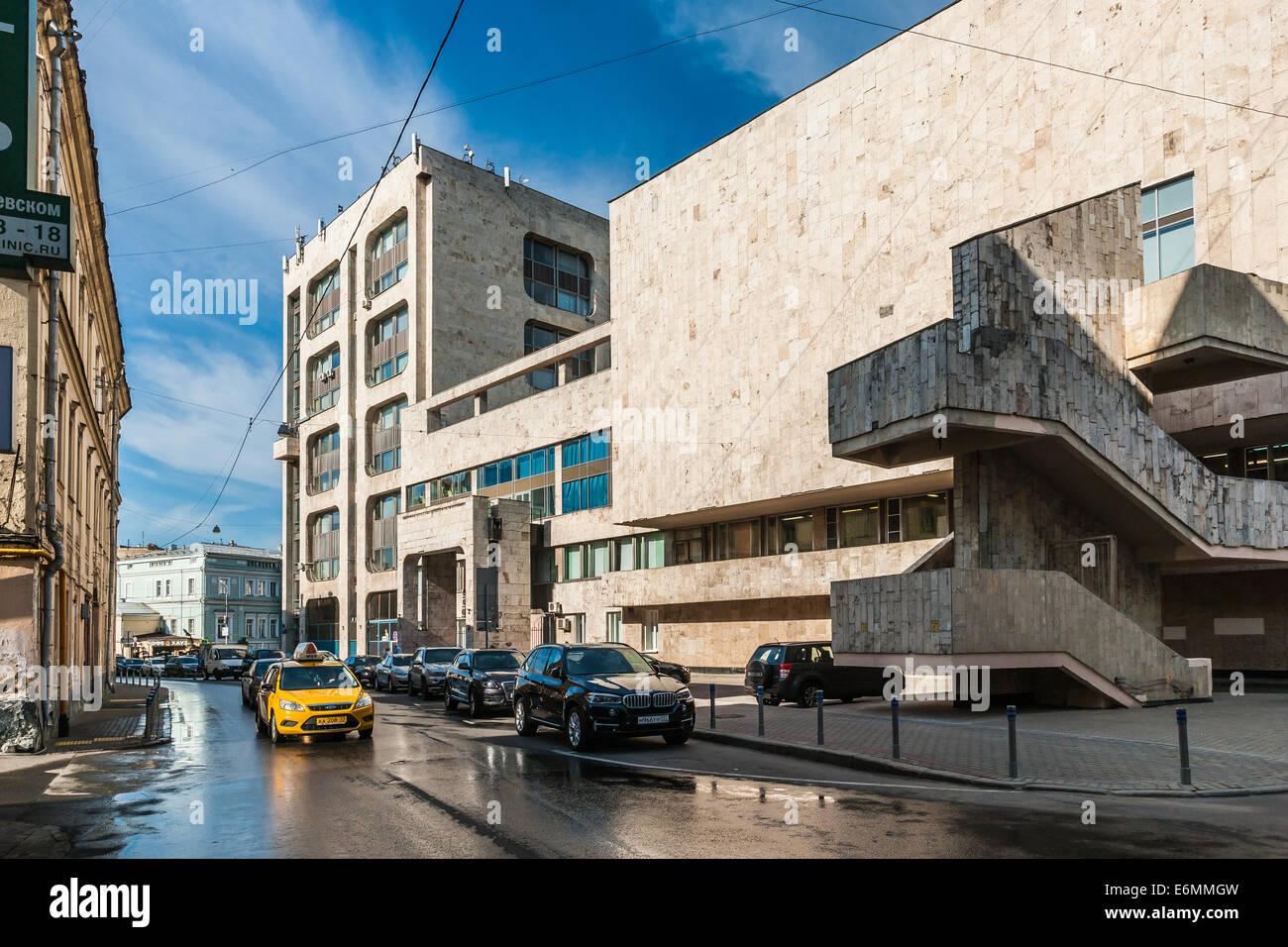 Russian Information News Agency ITAR-TASS building - Stock Image