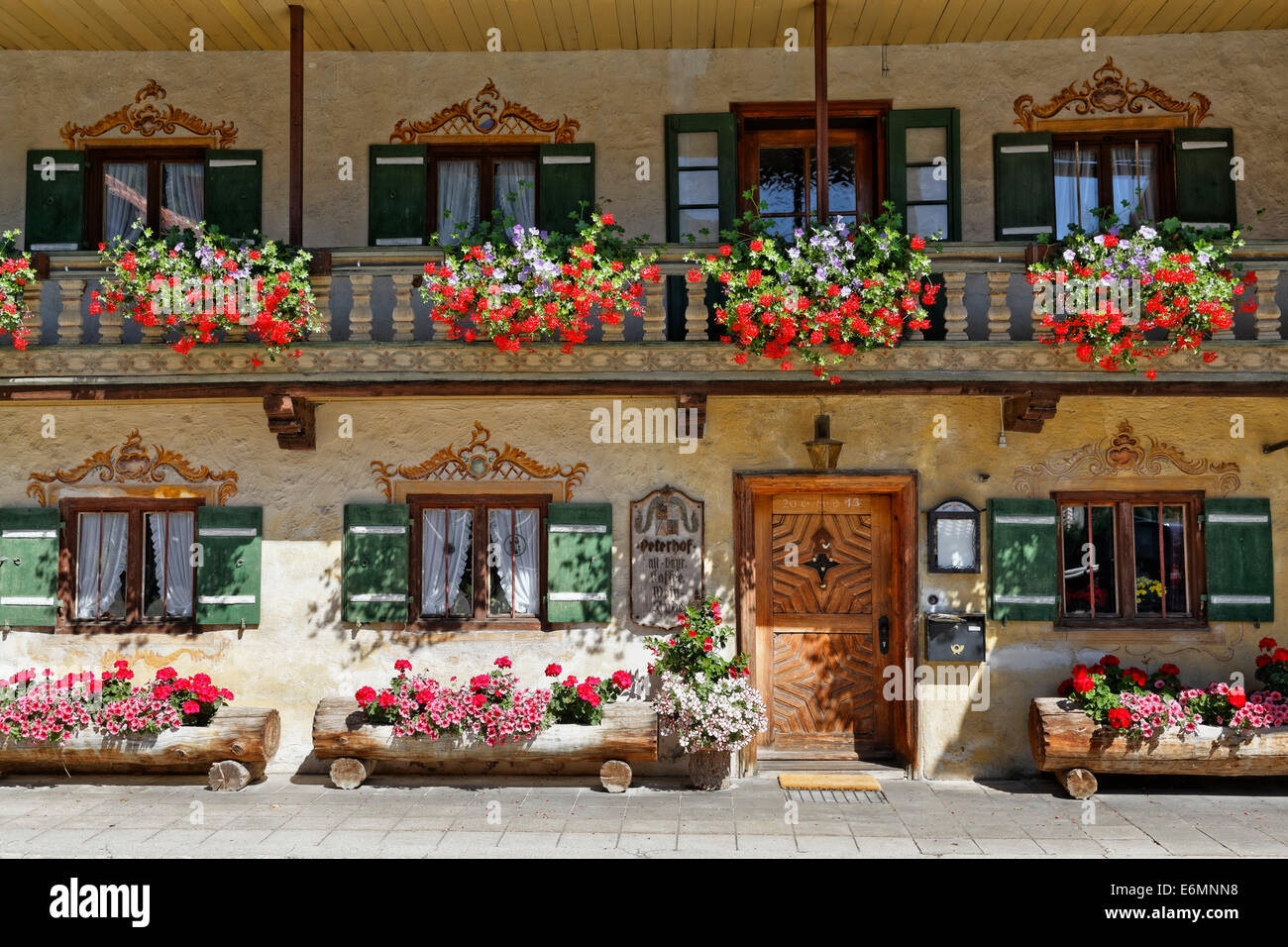 Peterhof wine bar, Bayrischzell, Upper Bavaria, Bavaria, Germany - Stock Image