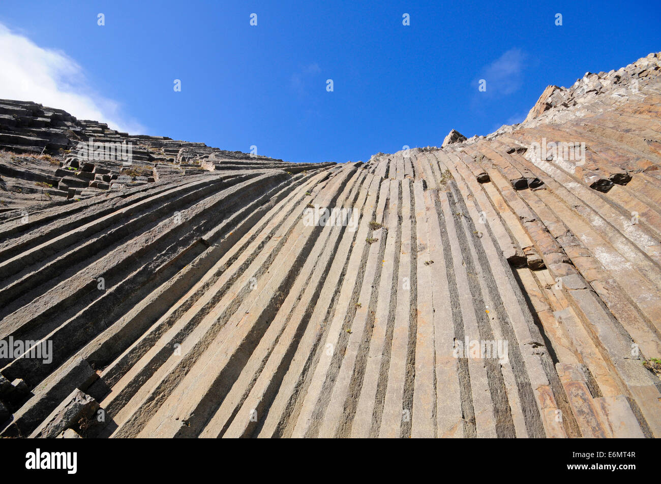 volcanic exagonal columns - Stock Image