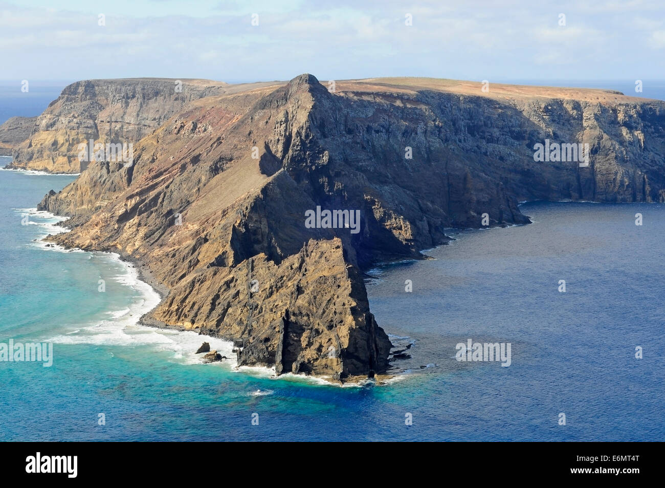 High coast in Porto Santo - Stock Image