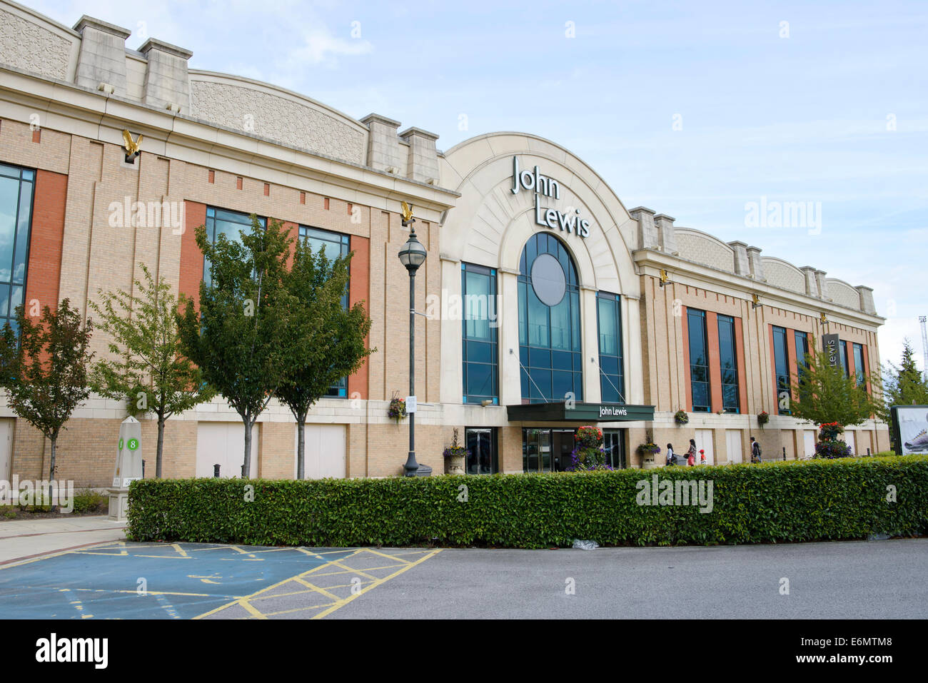Entrance to the John Lewis department store in the Trafford Centre, Manchester, England, UK - Stock Image
