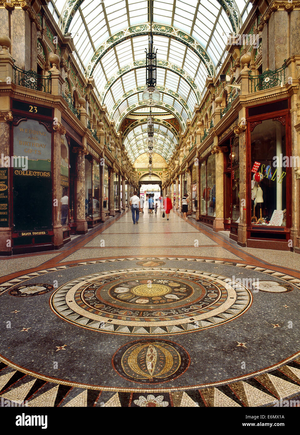 County Arcade in Leeds designed by theatre architect Frank Matcham - Stock Image