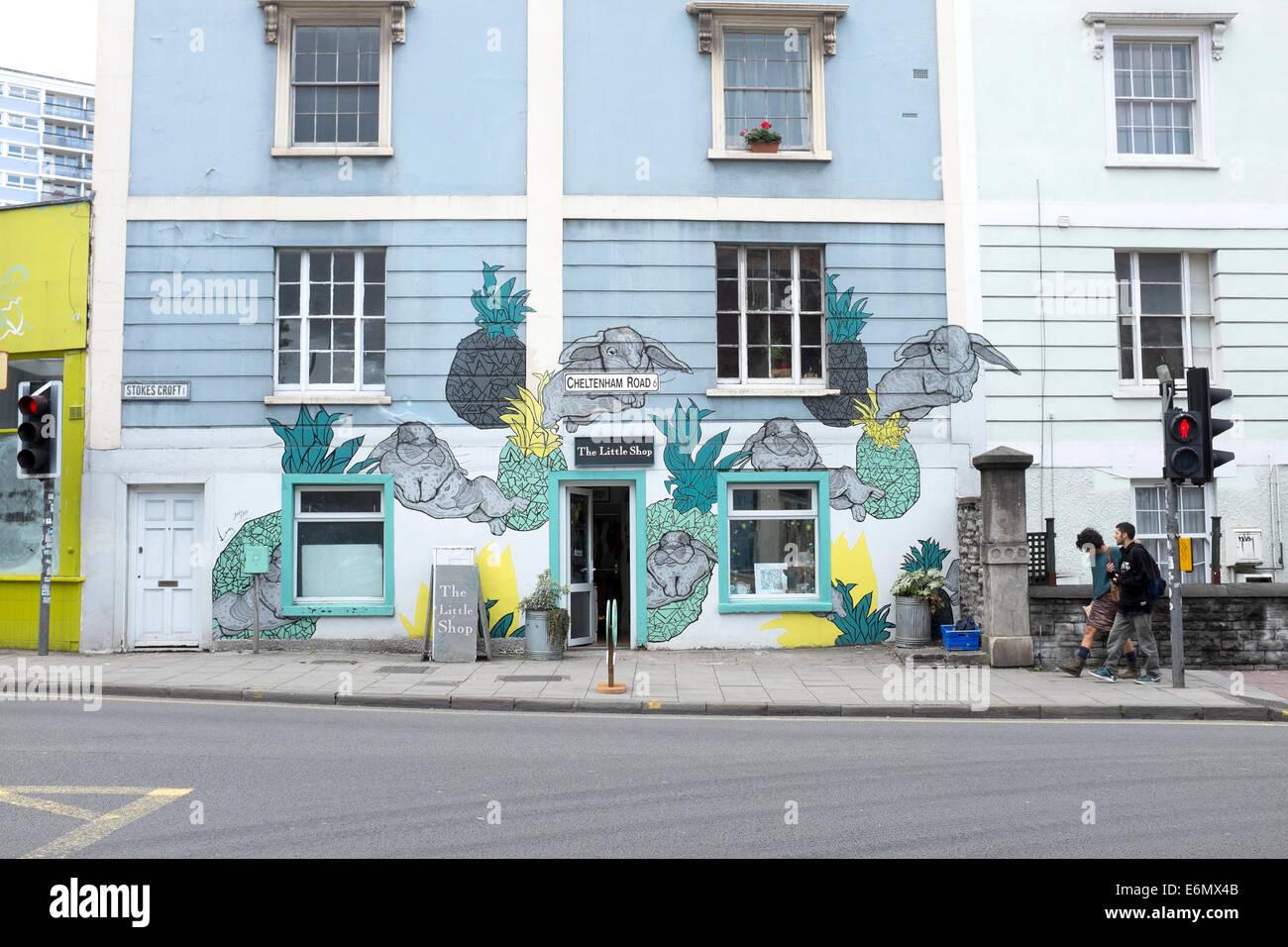 The Little Shop Cheltenham Road Stokes Croft Bristol - Stock Image