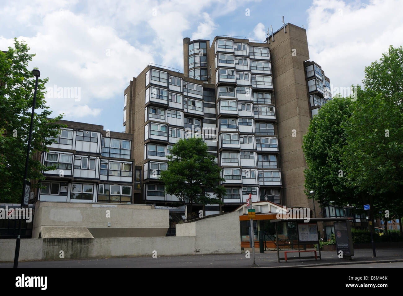 Lambeth Towers, designed by George Finch of Lambeth Architect's Department in 1965. - Stock Image