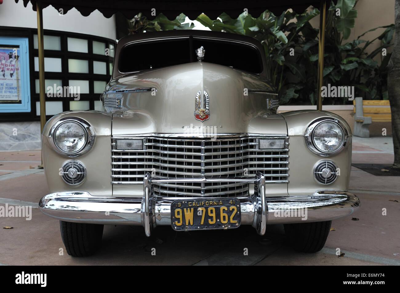 Classic vintage Cadillac. Disney's Hollywood Studios, Orlando, Florida, USA - Stock Image