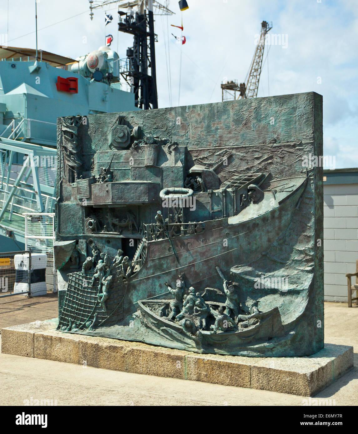 The Destroyer Memorial, Chatham Historic Dockyard. - Stock Image