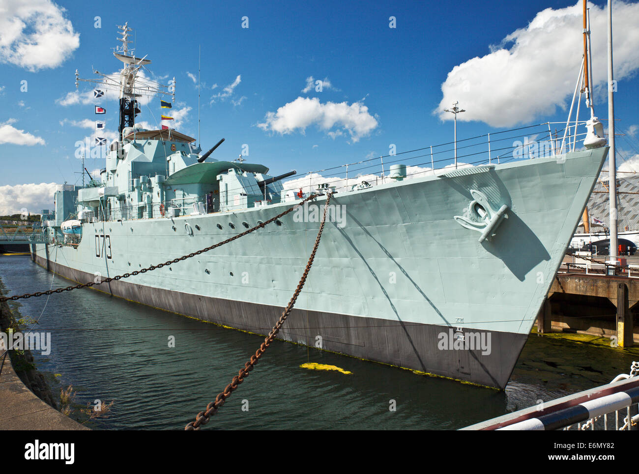 HMS Cavalier. The Royal Navy s last operational Second World War destroyer, at Chatham Historic Dockyard. - Stock Image