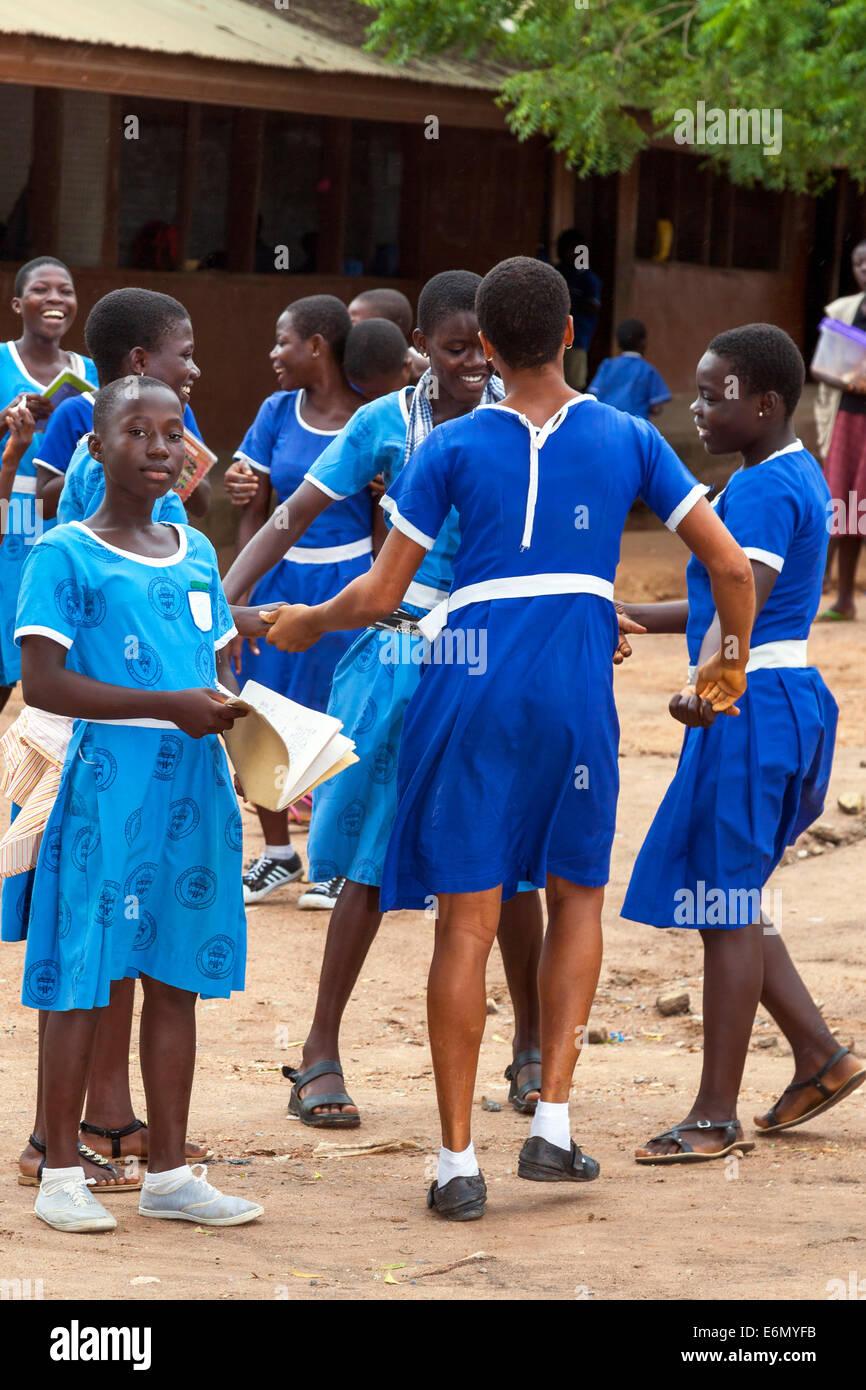 School children, Accra, Ghana, Africa - Stock Image