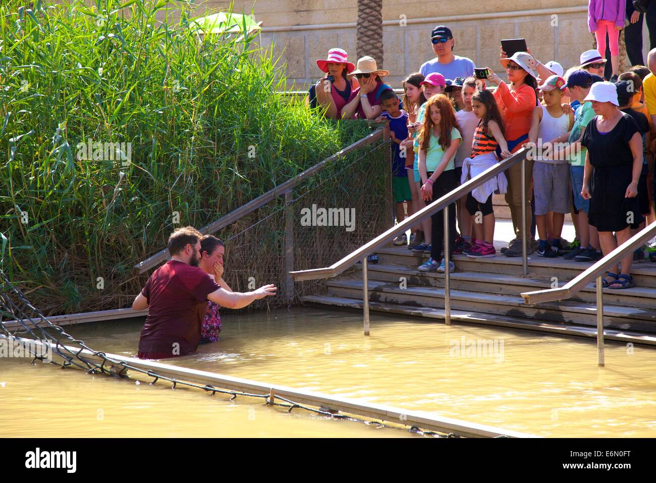 Baptism Site of Jesus Christ At River Jordan, Qasr al Yahud, Israel, Middle East - Stock Image