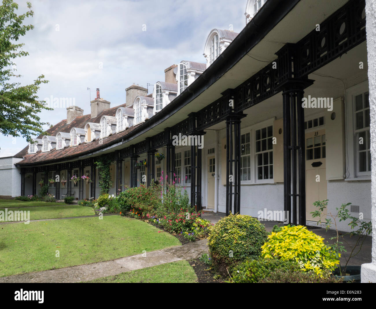 Port Sunlight  Wirral Merseyside England UK Many architectural styles Lever Brothers workers homes in model village - Stock Image