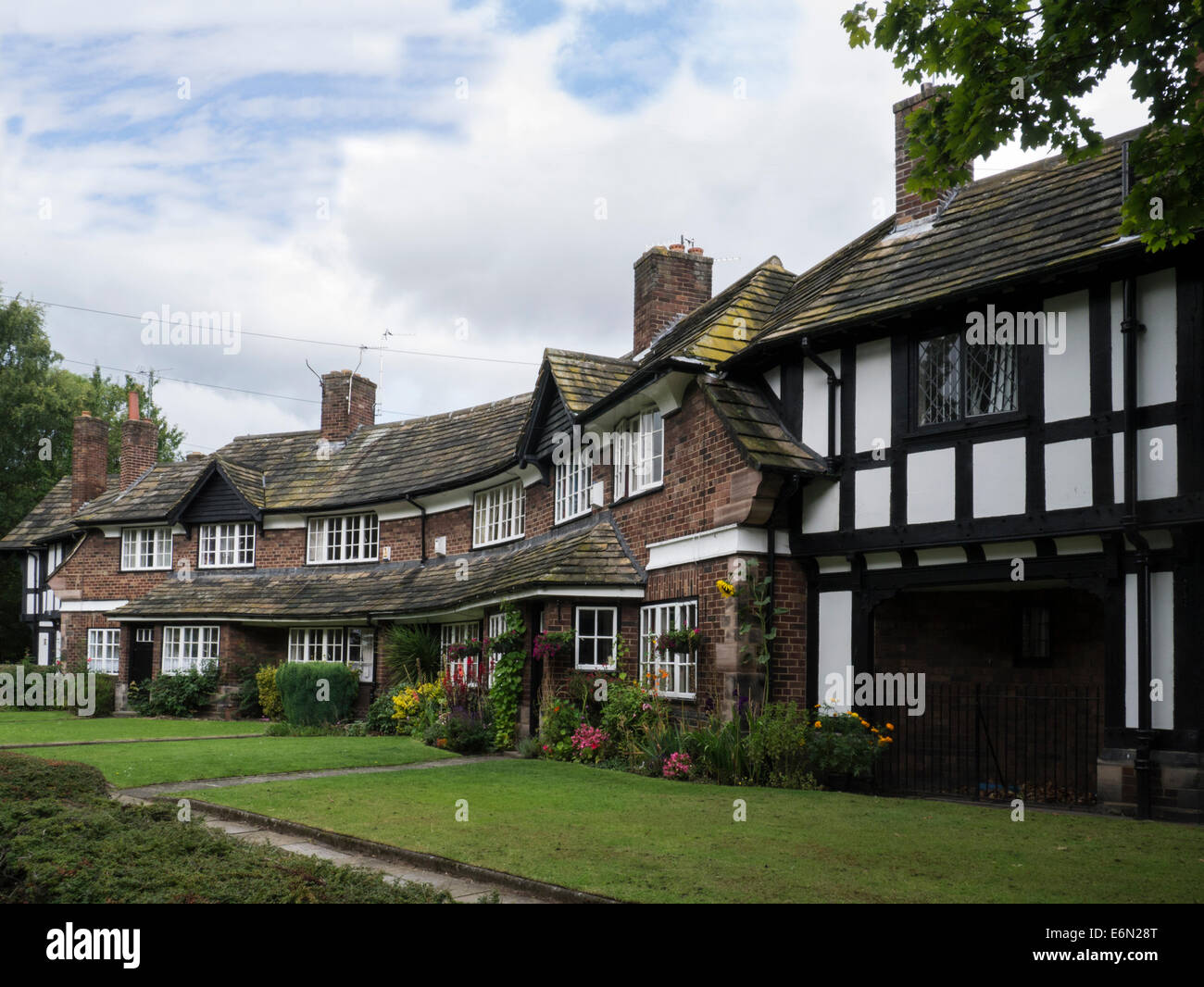 port sunlight wirral merseyside england uk different styles stock