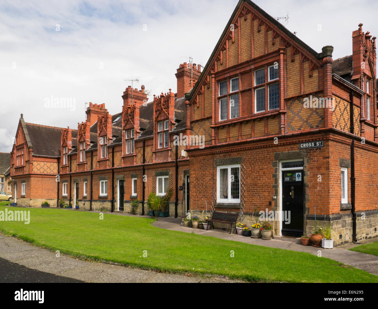 Port Sunlight  Wirral Merseyside England UK homes built for employees William Hesketh Lever in model village - Stock Image