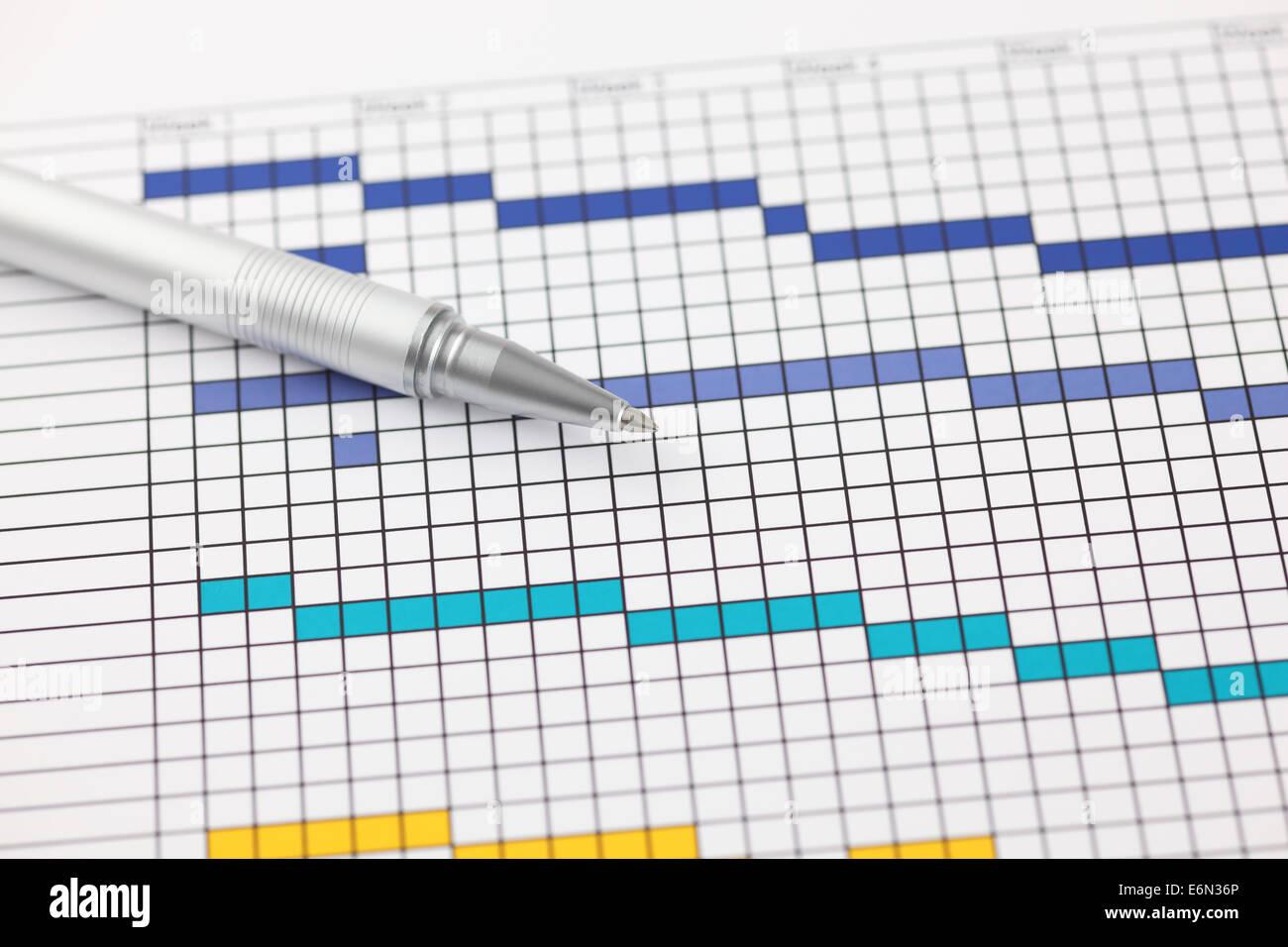 Gantt Chart Stock Photos Gantt Chart Stock Images Alamy