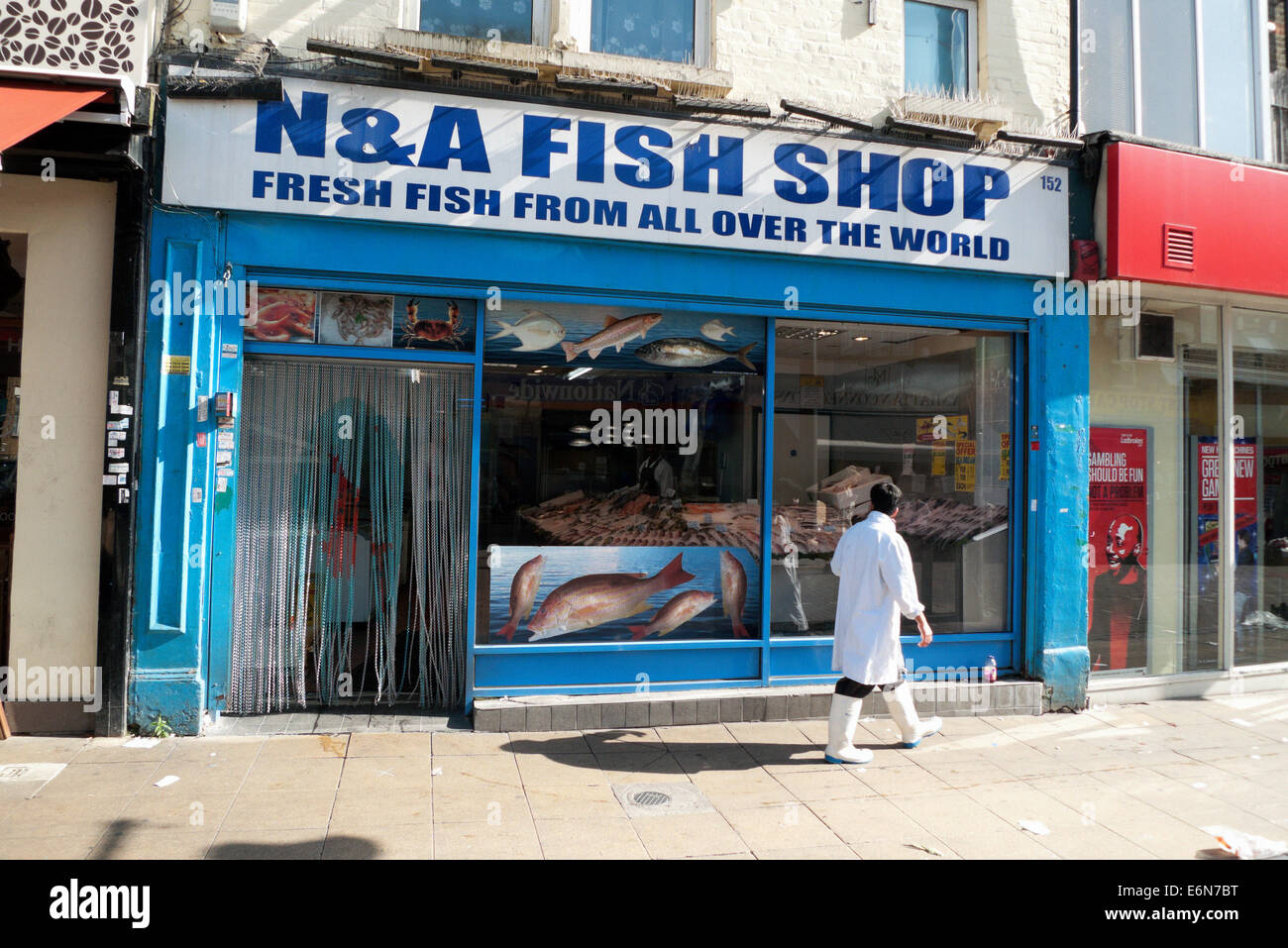 Exterior Of N A Fish Shop Walthamstow High Street London UK KATHY DEWITT