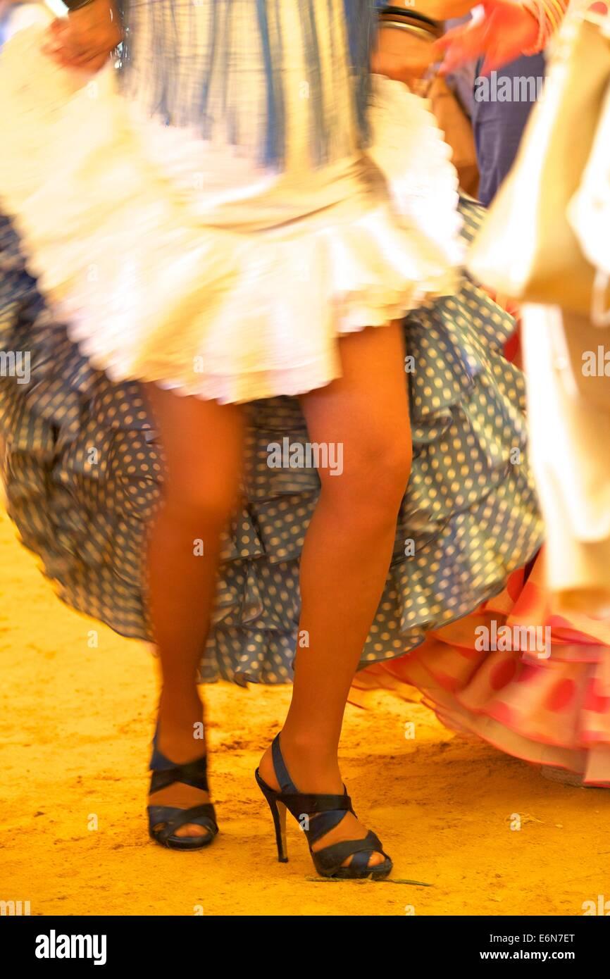 Flamenco Dancers, Jerez de la Frontera, Cadiz Province, Andalusia, Spain, South West Europe - Stock Image