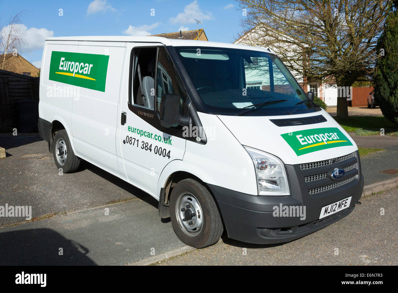 Self Drive Hire Van From Europcar Uk Stock Photo 72996535 Alamy