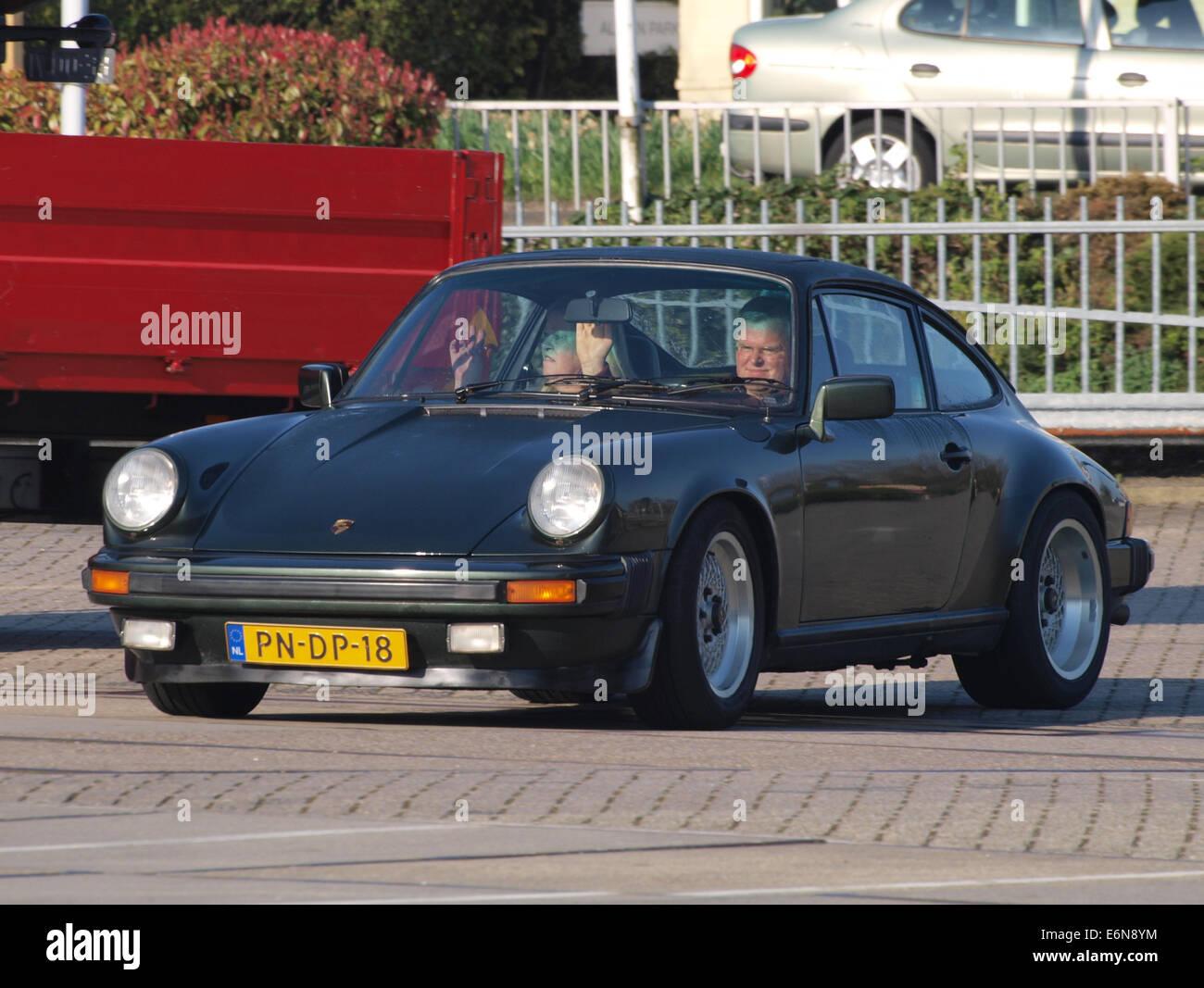 Porsche 911 SC (1980), Dutch licecence registration PN-DP-18, pic1 - Stock Image