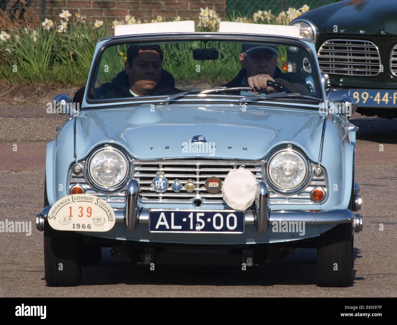 Triumph TR-4 Cabrio (1963), Dutch licence AL-15-00, pic1 - Stock Image
