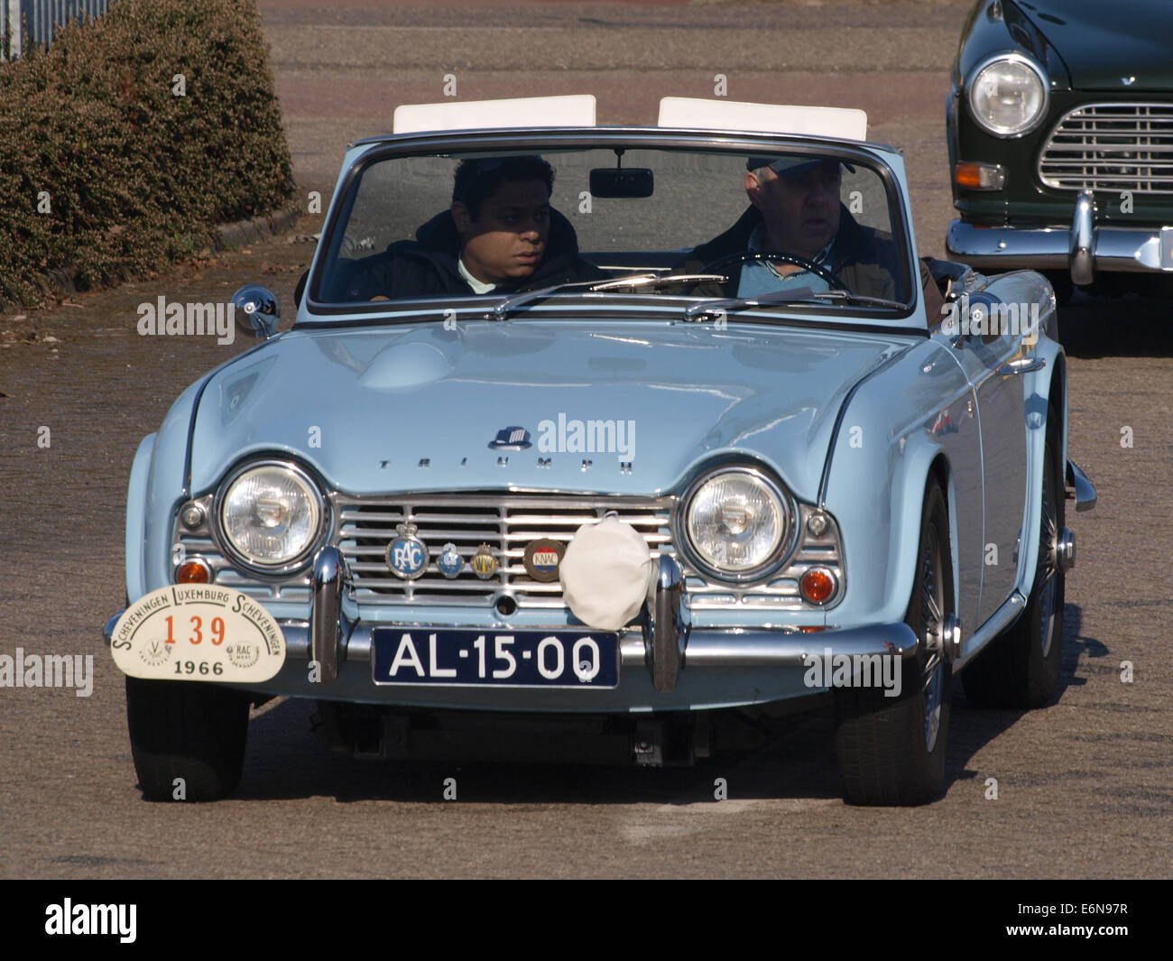 Triumph TR-4 Cabrio (1963), Dutch licence AL-15-00, pic2 - Stock Image