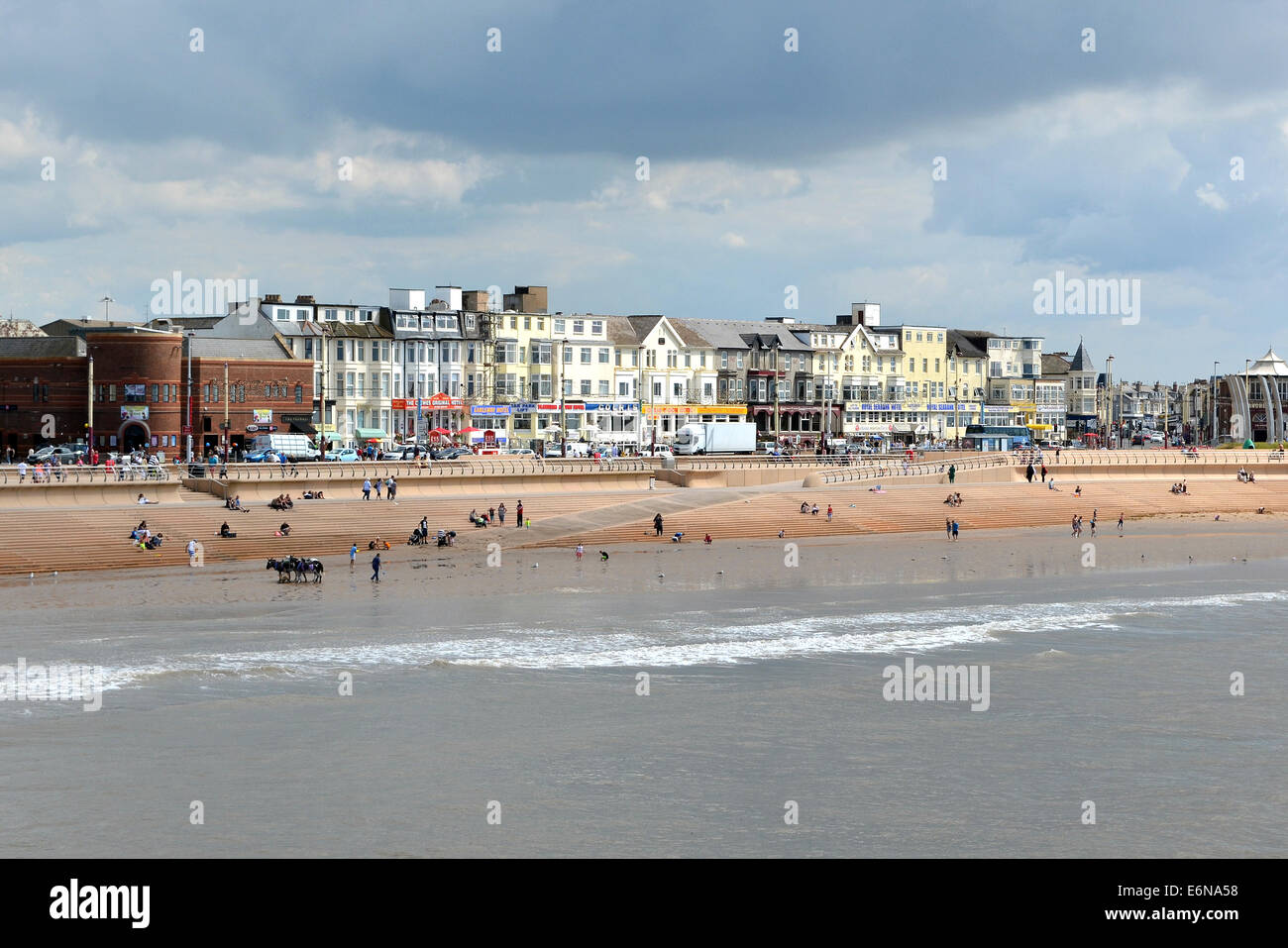 Hotels on the seafront at Blackpool in Lancashire, UK - Stock Image