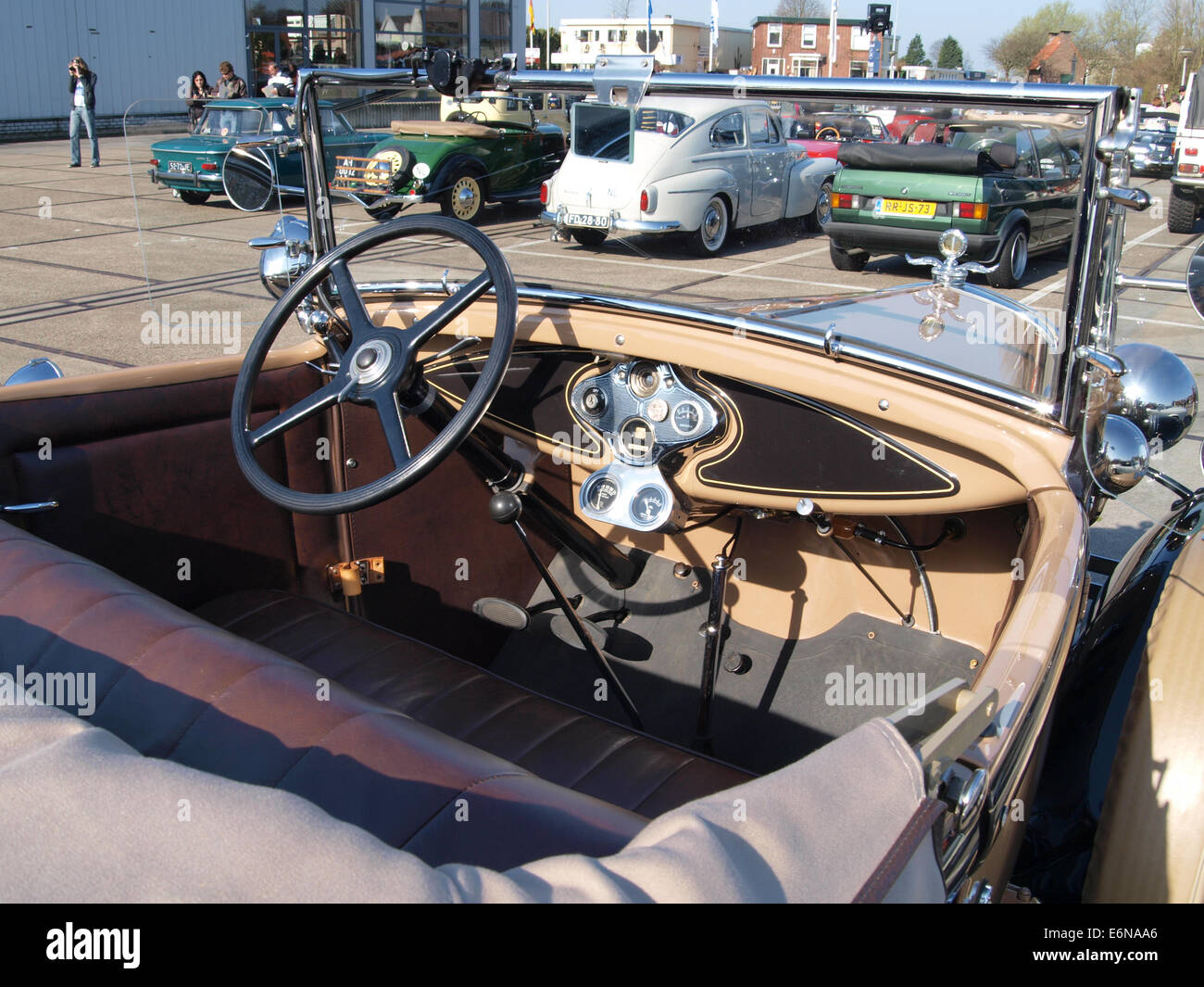 Ford A (1931), Dutch licence registration 75-80-EH, pic6 - Stock Image