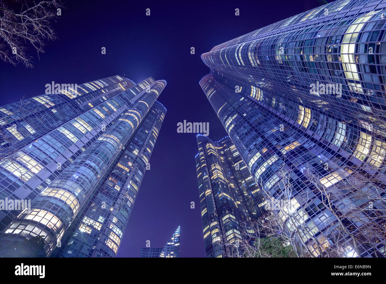 Busan, South Korea city high rises. - Stock Image