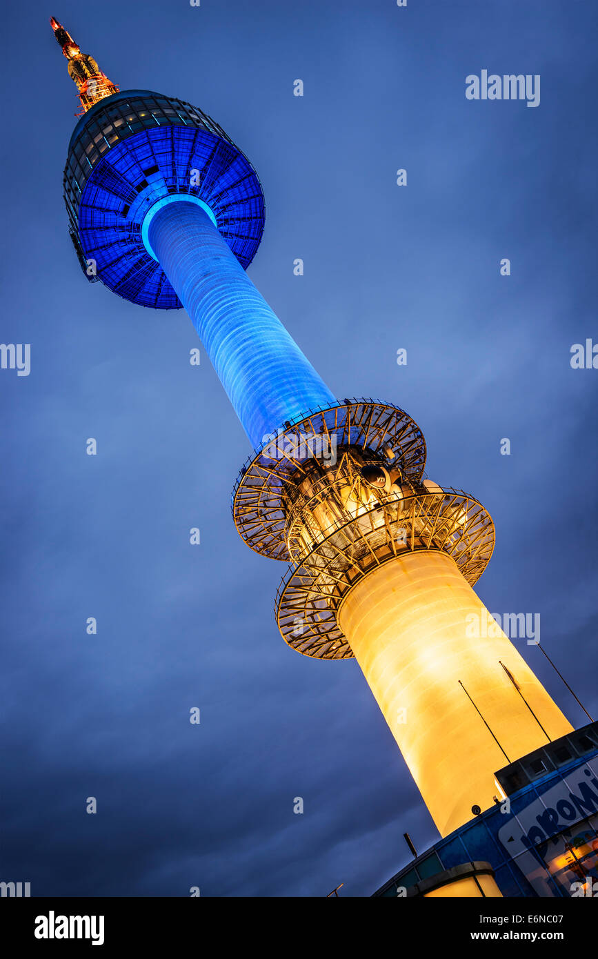 SEOUL - FEBRUARY 17: N Seoul Tower February 17, 2013 in Seoul, KR. It marks the highest point in Seoul. - Stock Image