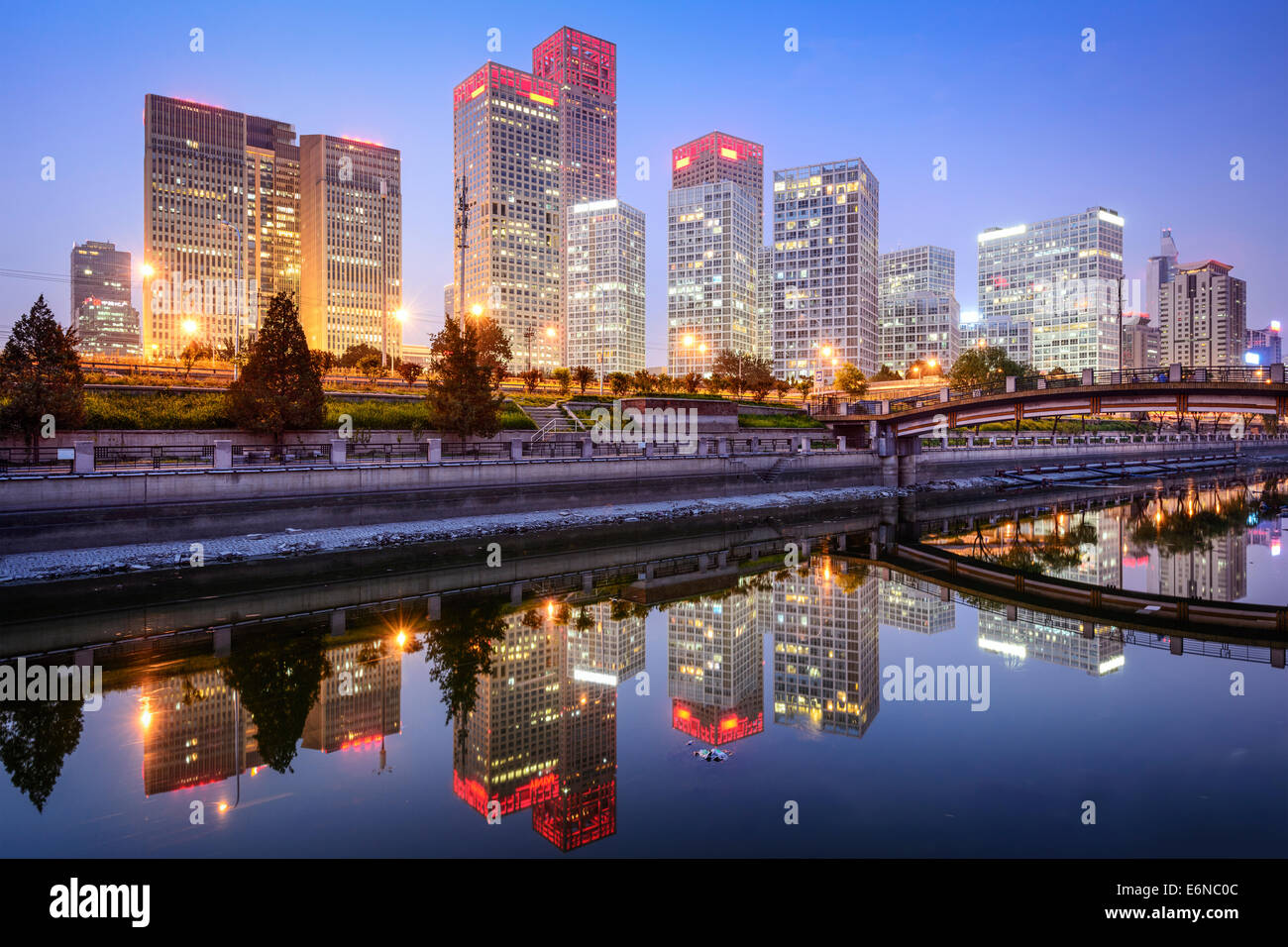 Beijing, China CBD city skyline. - Stock Image