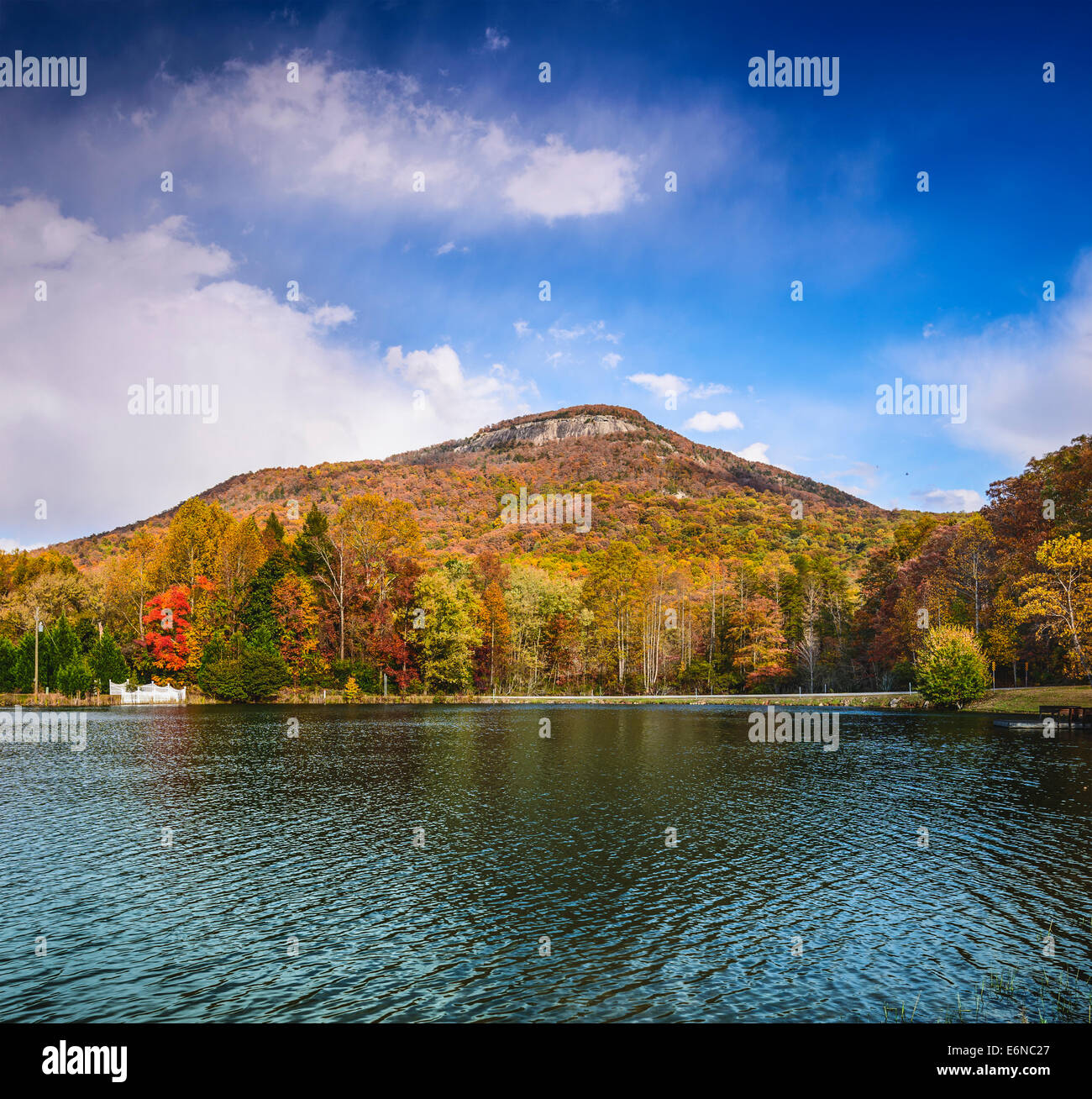 Yonah Mountain in north Georgia, USA. - Stock Image