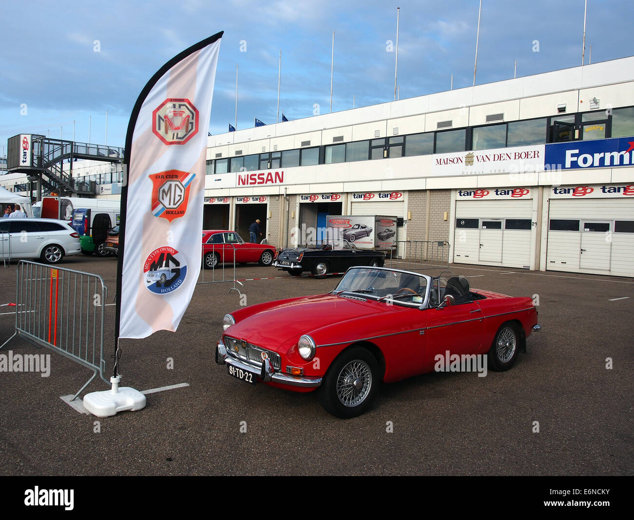 MG stand at the National Oldtimer Festival Zandvoort 2014 - Stock Image
