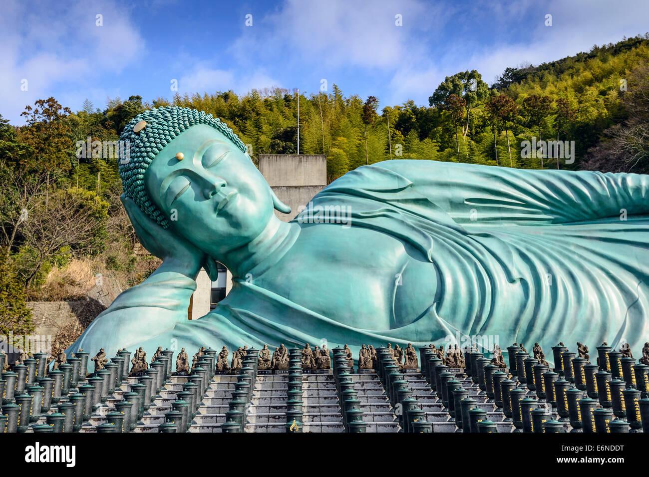 The Reclining Buddha of Nanzoin Temple in Fukuoka, Japan. - Stock Image