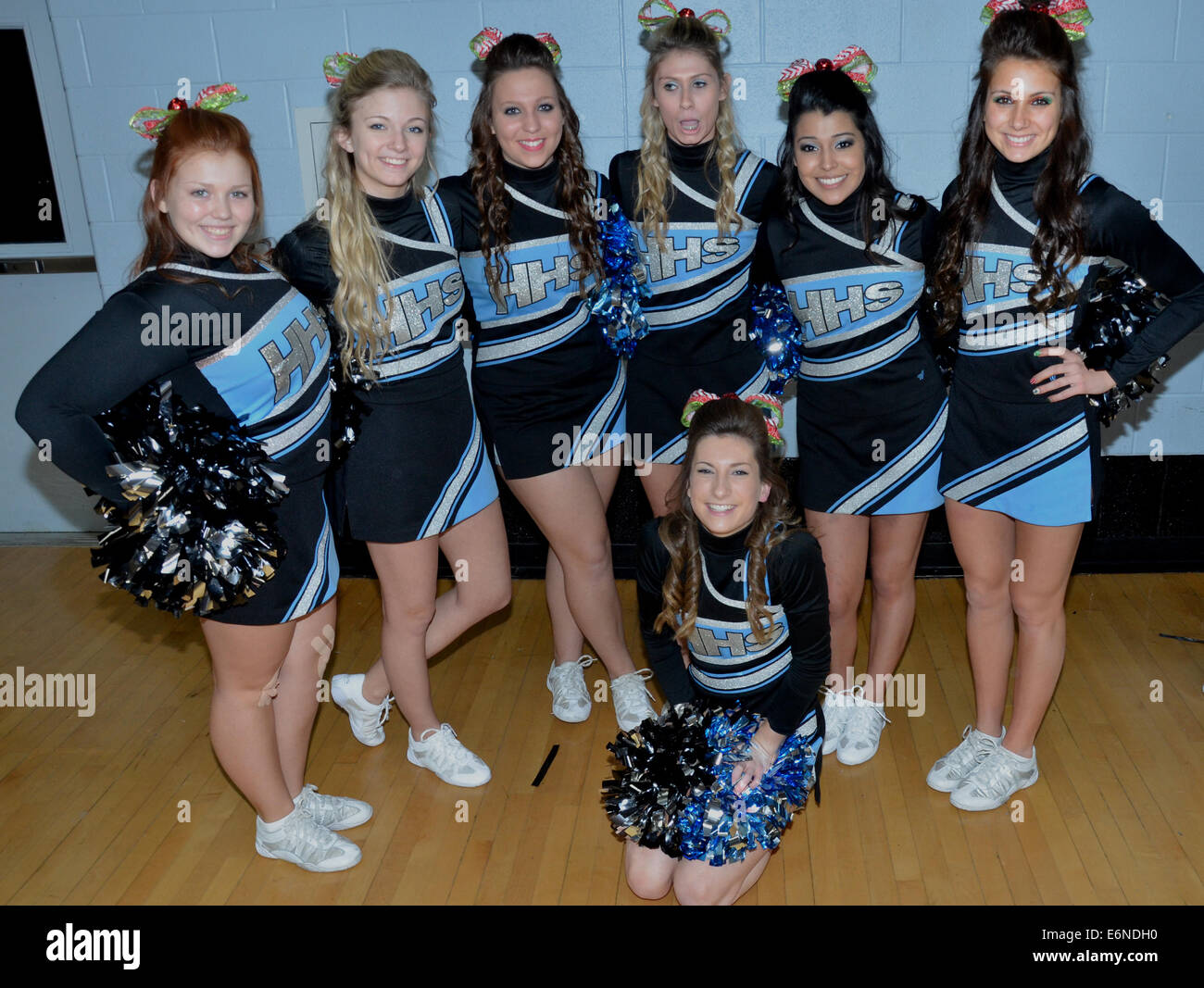 High school cheerleaders - Stock Image
