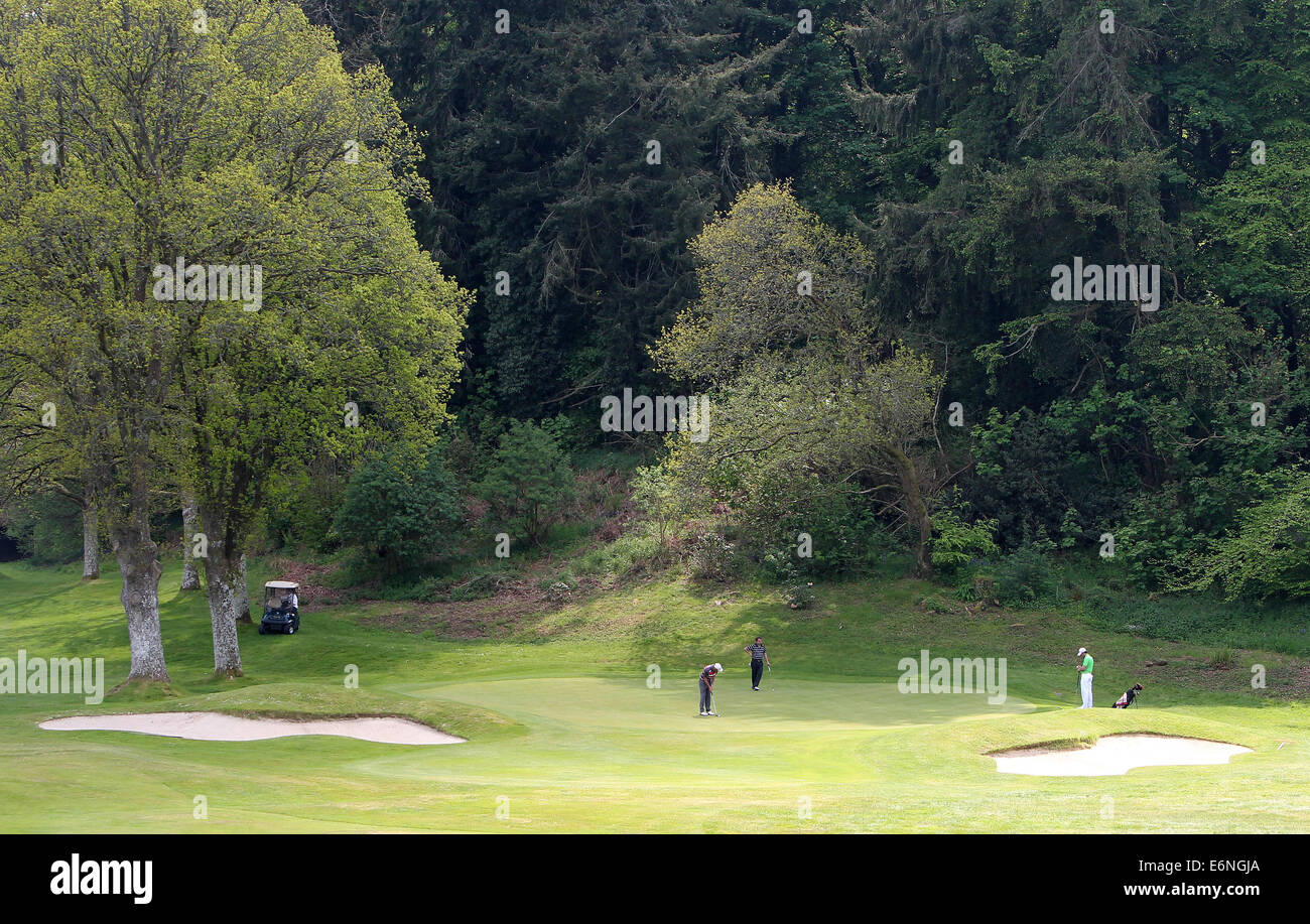 A general view of the course during the PGA Europro Tour at Bovey Castle, Devon - Stock Image